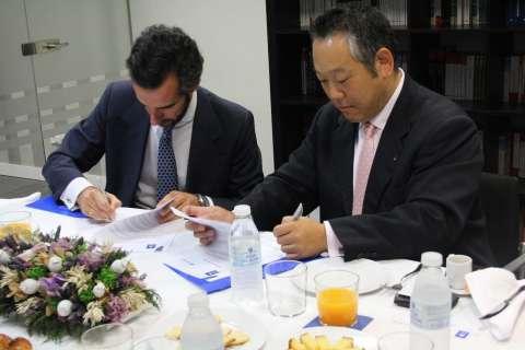 japon. acto de la firma del acuerdo de cooperacion educativa 1