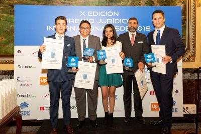 Ganadores del X Premio Jurídico Internacional ISDE.