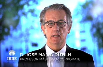 José María Dutilh, profesor del Master en Corporate y Dirección Financiera.