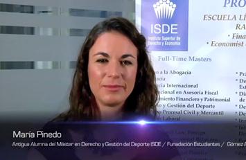 Testimonio de María Pinedo sobre el Master en Derecho y Gestión del Deporte ISDE – Club Estudiantes.