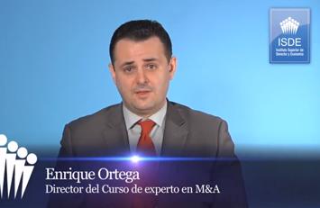 Enrique Ortega, Codirector del Curso de Experto en M&A.