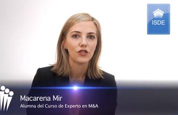 Testimonio de Macarena Mir sobre el Curso de Experto en M&A.