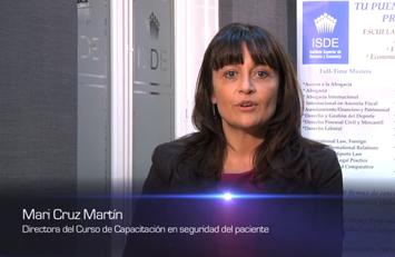 Mari Cruz Marín, Directora del Master en Seguridad del Paciente y Gestión del Riesgo Sanitario.