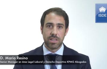Mario Resino, codirector del Master Internacional en Derecho y Gestión Deportiva ISDE – IUSPORT y KPMG.