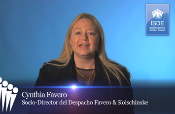 Cynthia Favero, Directora del Master en Derecho Internacional, Diplomático y Consular, con mención en Comercio Exterior y Jurista Internacional.