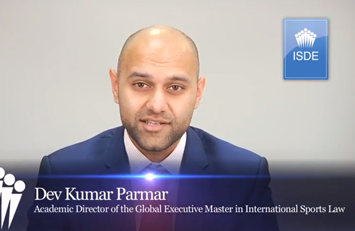 Dev Kumar Parmar, Director Académico del Global Executive Master in International Sport Law.