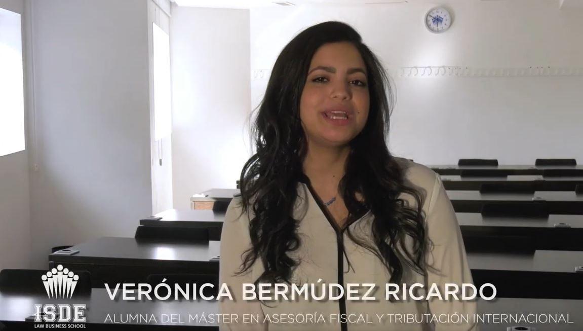 Verónica Bermúdez, alumna del Máster Internacional en Asesoría Fiscal