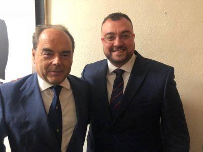 Presidente de ISDE con Presidente de Asturias