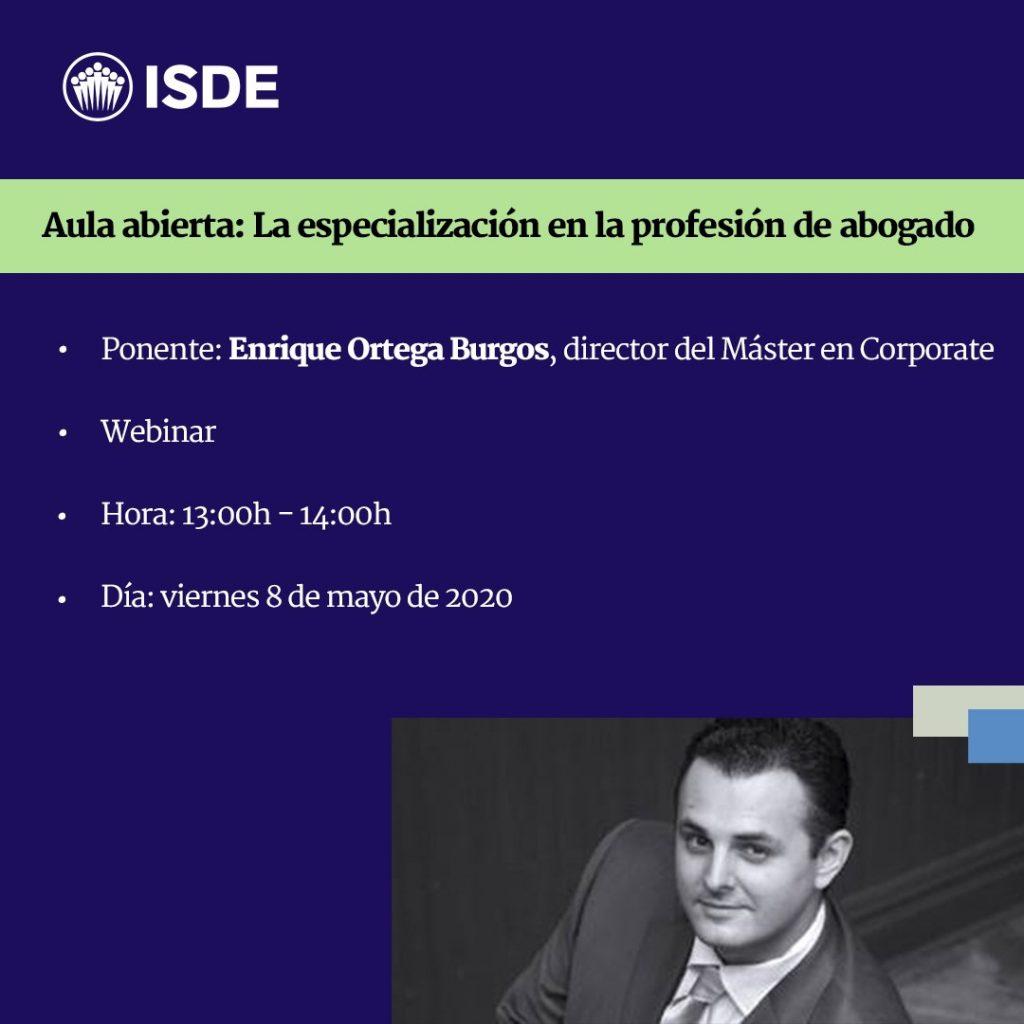 ISDE Cartel Enrique Ortega